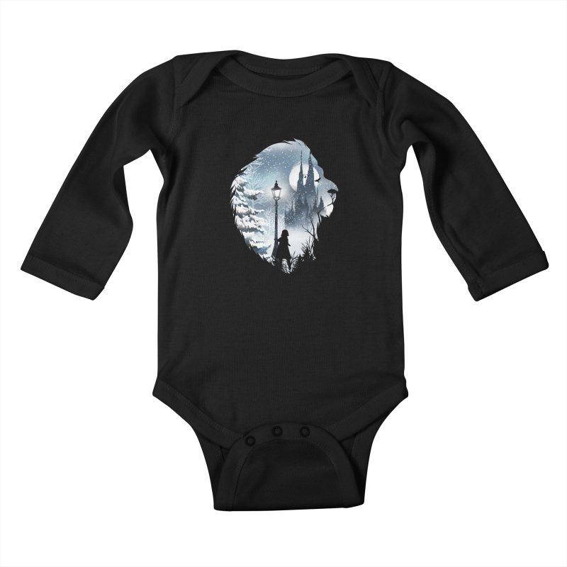 Mystical Winter Kids Baby Longsleeve Bodysuit by dandingeroz's Artist Shop