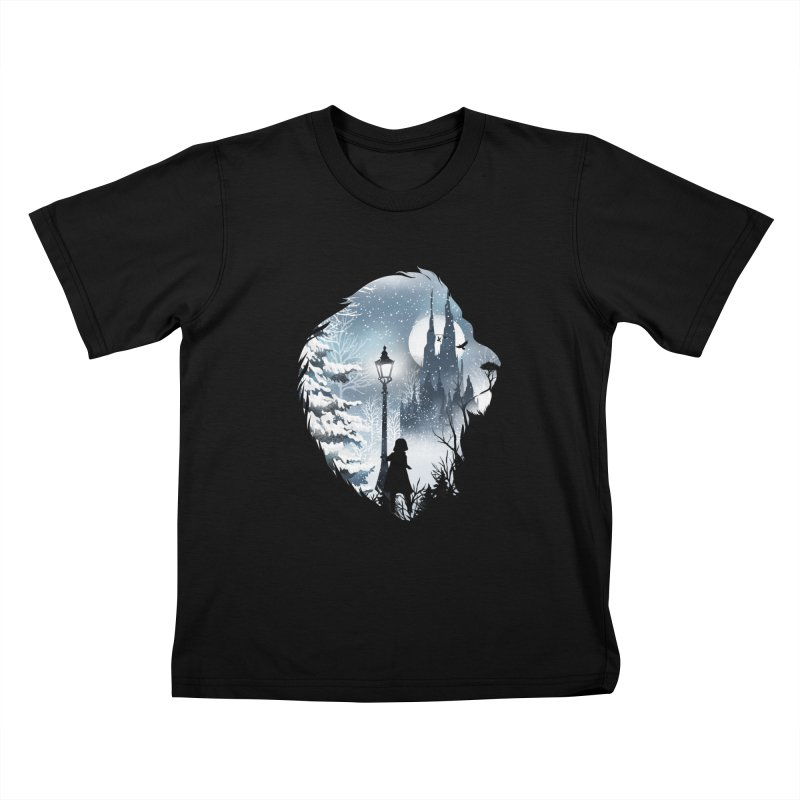 Mystical Winter Kids T-Shirt by dandingeroz's Artist Shop