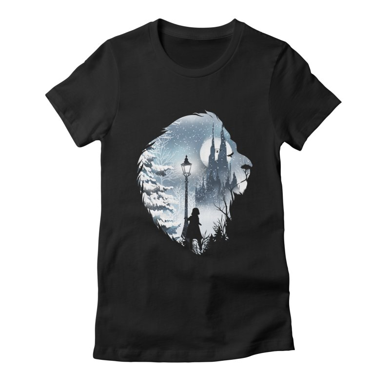 Mystical Winter Women's Fitted T-Shirt by dandingeroz's Artist Shop