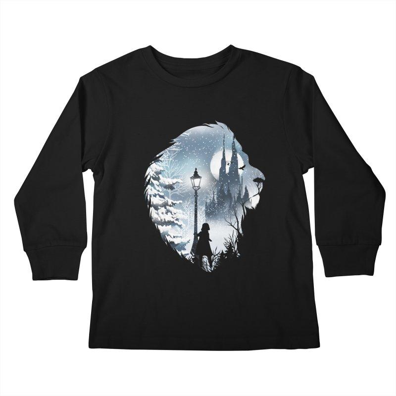 Mystical Winter Kids Longsleeve T-Shirt by dandingeroz's Artist Shop