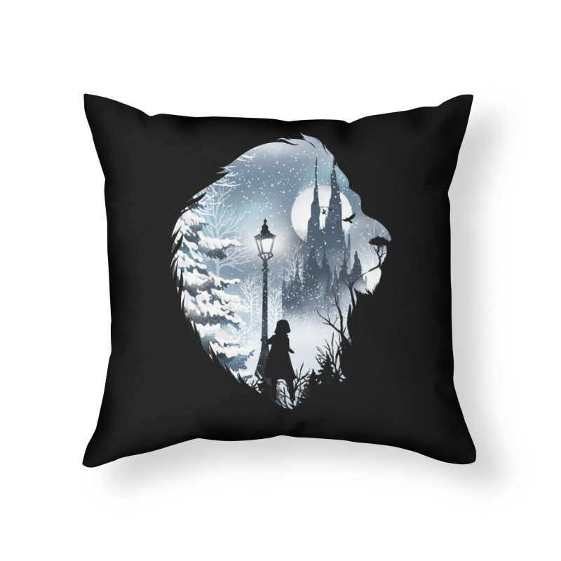 Mystical Winter Home Throw Pillow by dandingeroz's Artist Shop