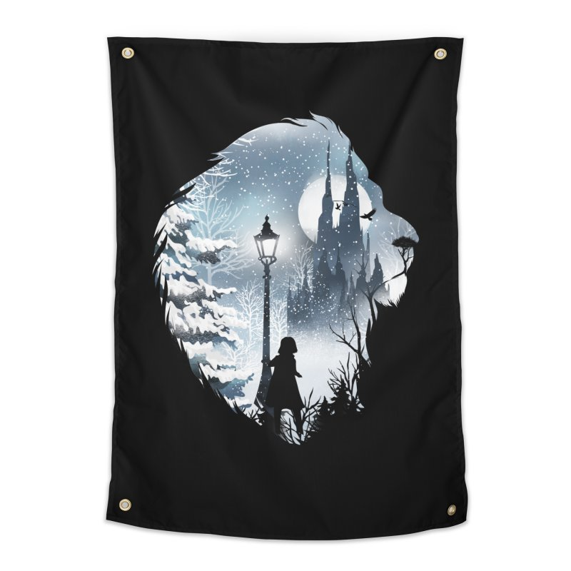 Mystical Winter Home Tapestry by dandingeroz's Artist Shop