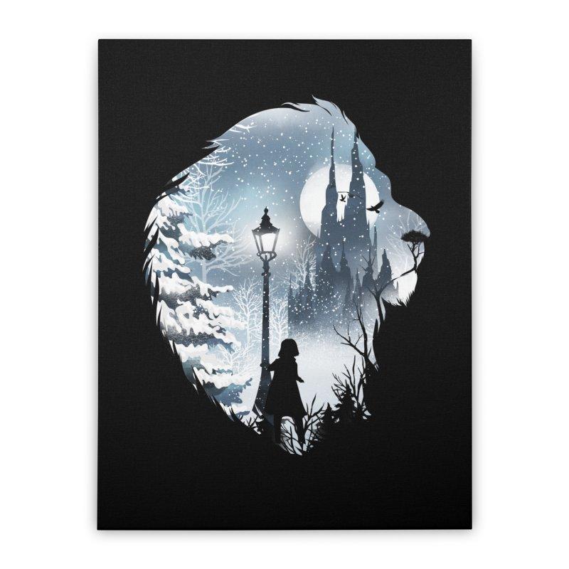 Mystical Winter Home Stretched Canvas by dandingeroz's Artist Shop