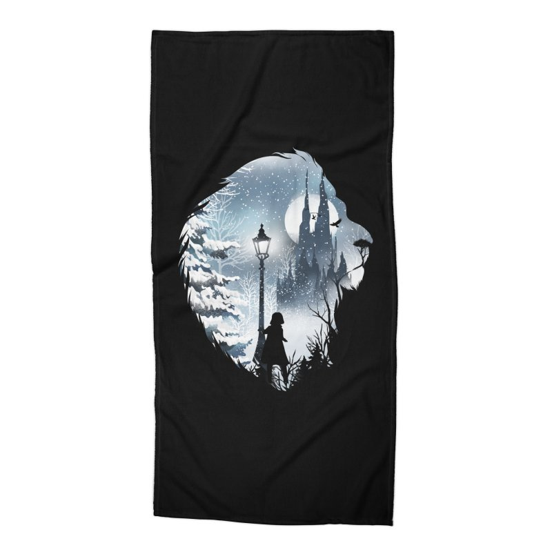 Mystical Winter Accessories Beach Towel by dandingeroz's Artist Shop