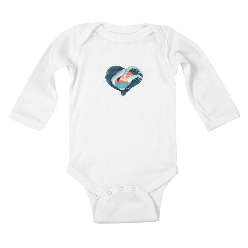 Live, Love & Travel Kids Baby Longsleeve Bodysuit by dandingeroz's Artist Shop