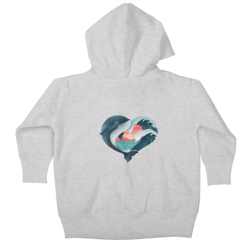 Live, Love & Travel Kids Baby Zip-Up Hoody by dandingeroz's Artist Shop