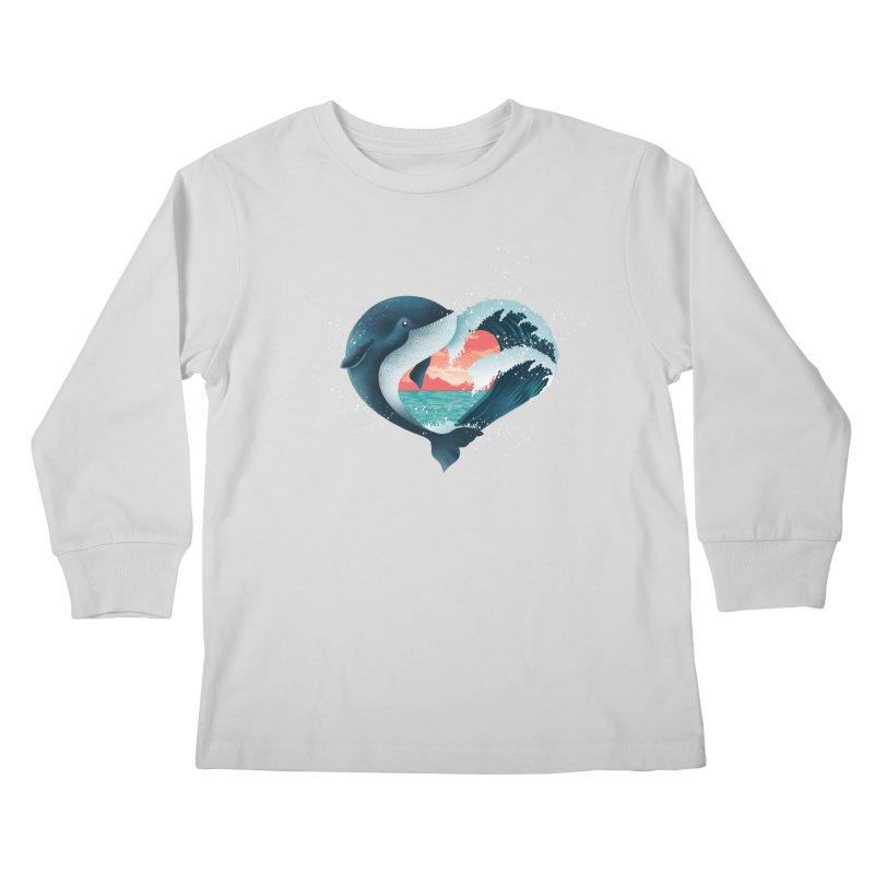 Live, Love & Travel Kids Longsleeve T-Shirt by dandingeroz's Artist Shop