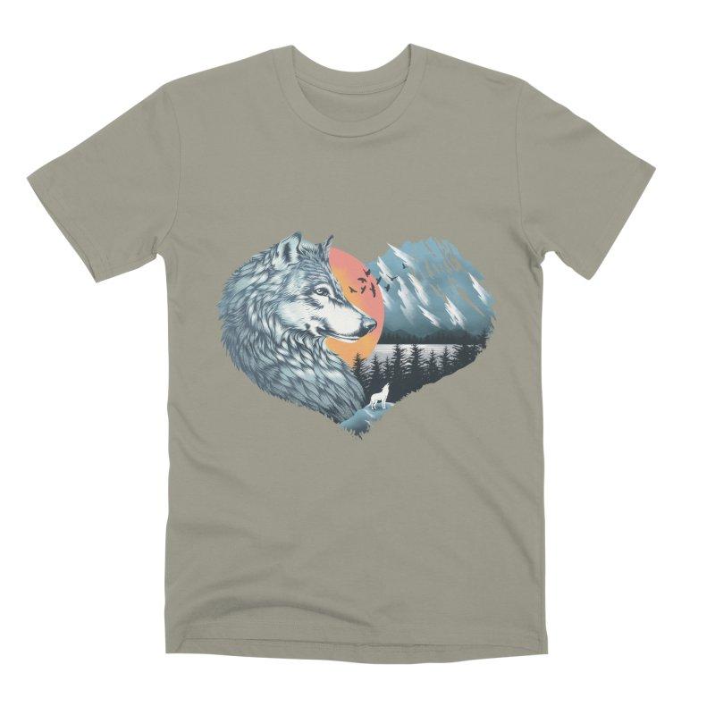 As the wild heart howls Men's Premium T-Shirt by dandingeroz's Artist Shop