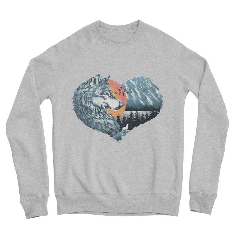 As the wild heart howls Men's Sponge Fleece Sweatshirt by dandingeroz's Artist Shop
