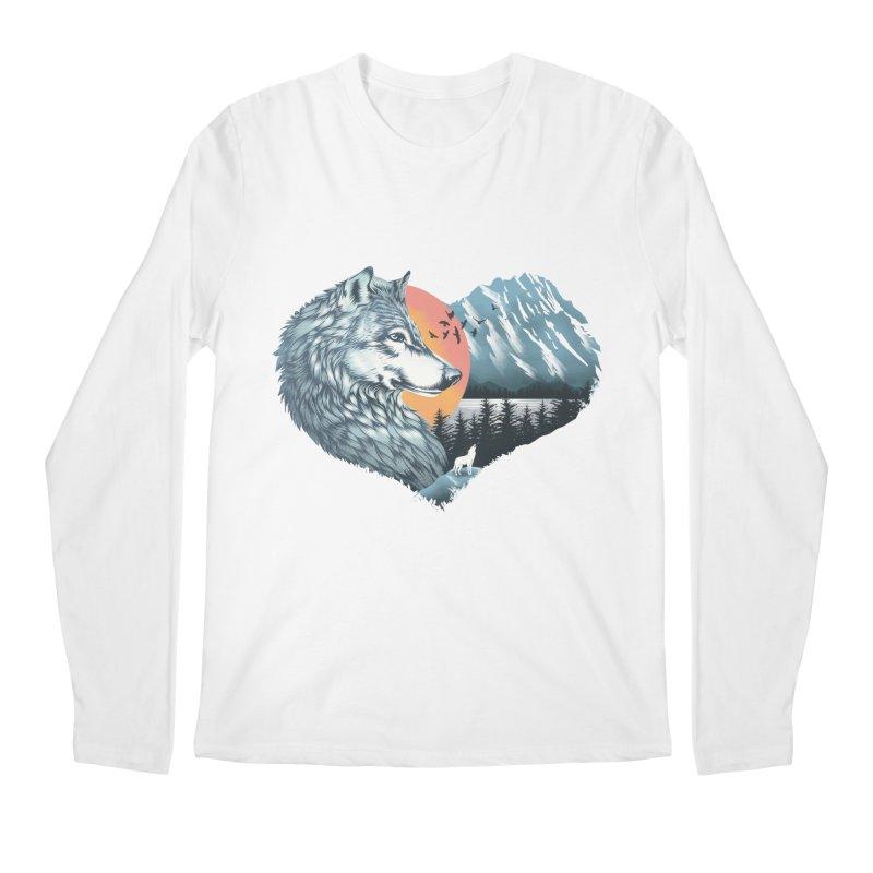 As the wild heart howls Men's Regular Longsleeve T-Shirt by dandingeroz's Artist Shop