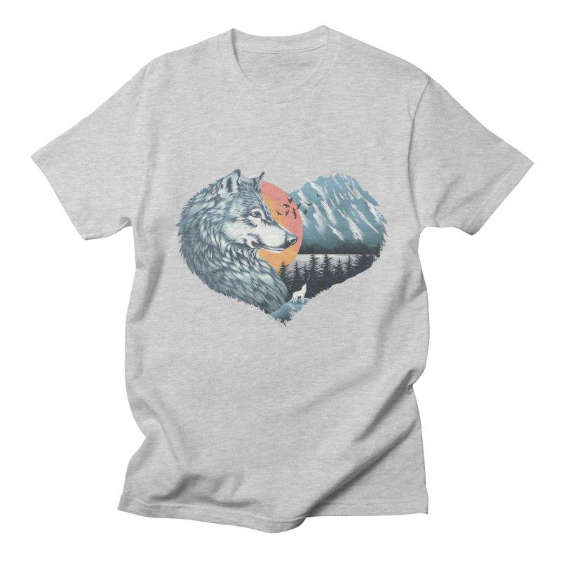 As the wild heart howls Men's Regular T-Shirt by dandingeroz's Artist Shop