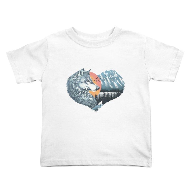 As the wild heart howls Kids Toddler T-Shirt by dandingeroz's Artist Shop