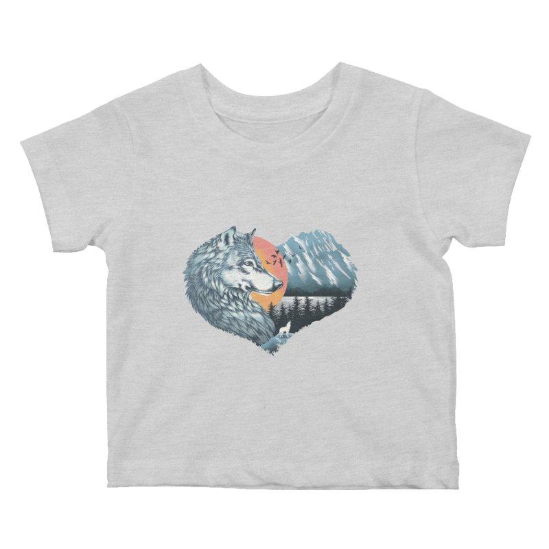 As the wild heart howls Kids Baby T-Shirt by dandingeroz's Artist Shop