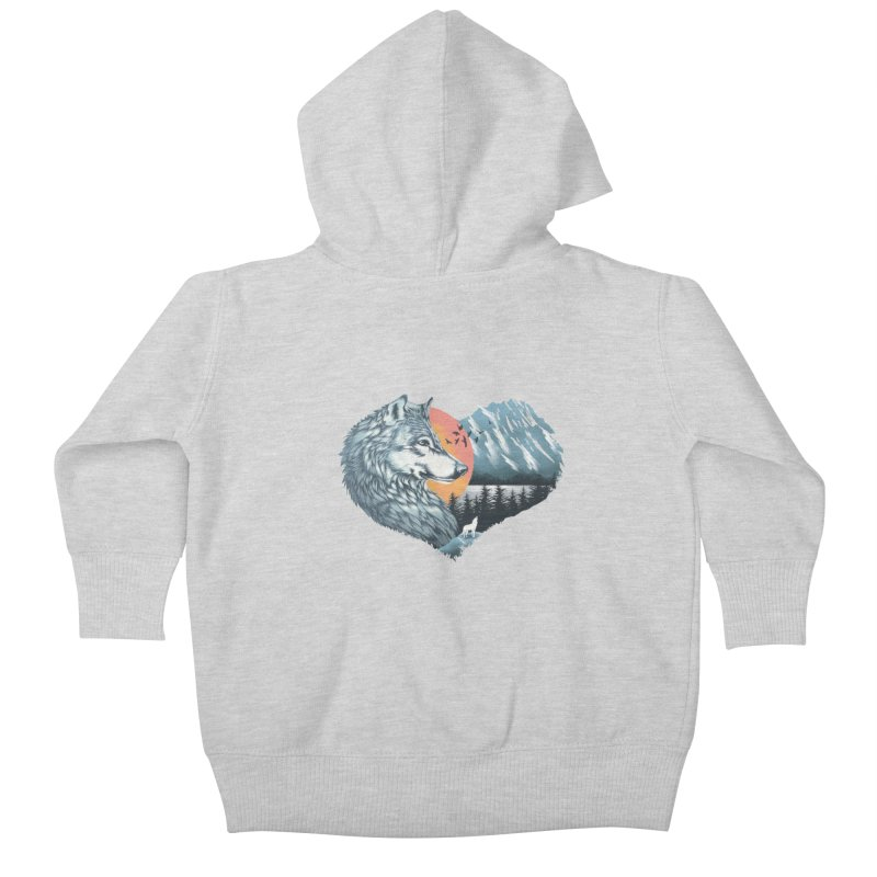 As the wild heart howls Kids Baby Zip-Up Hoody by dandingeroz's Artist Shop