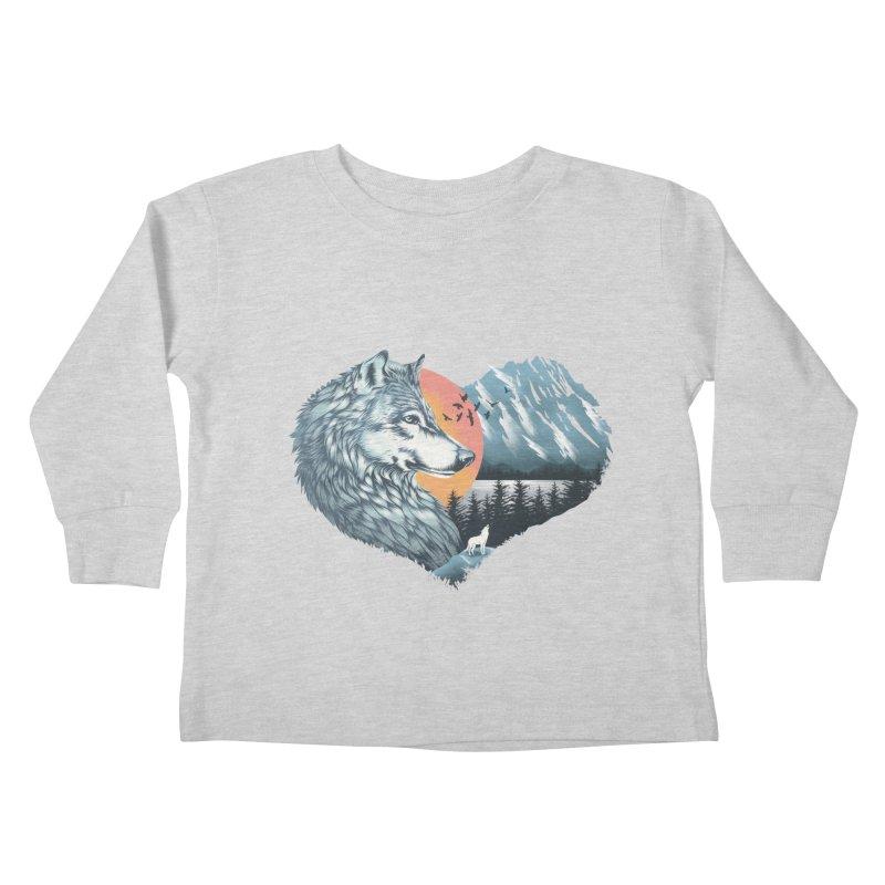 As the wild heart howls Kids Toddler Longsleeve T-Shirt by dandingeroz's Artist Shop