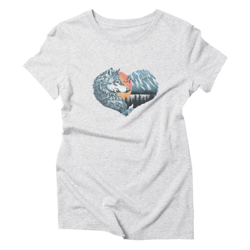 As the wild heart howls Women's Triblend T-Shirt by dandingeroz's Artist Shop