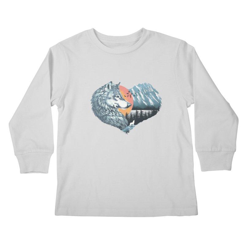 As the wild heart howls Kids Longsleeve T-Shirt by dandingeroz's Artist Shop