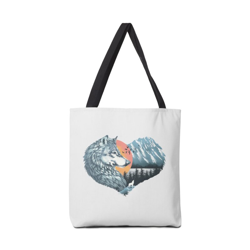 As the wild heart howls Accessories Bag by dandingeroz's Artist Shop
