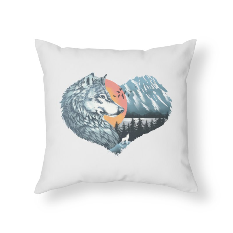 As the wild heart howls Home Throw Pillow by dandingeroz's Artist Shop