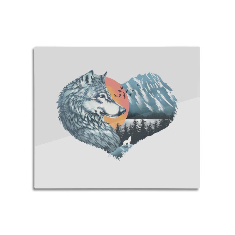 As the wild heart howls Home Mounted Aluminum Print by dandingeroz's Artist Shop
