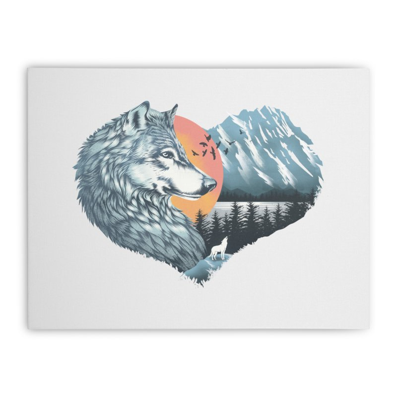 As the wild heart howls Home Stretched Canvas by dandingeroz's Artist Shop