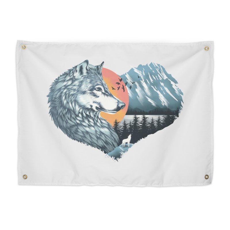 As the wild heart howls Home Tapestry by dandingeroz's Artist Shop