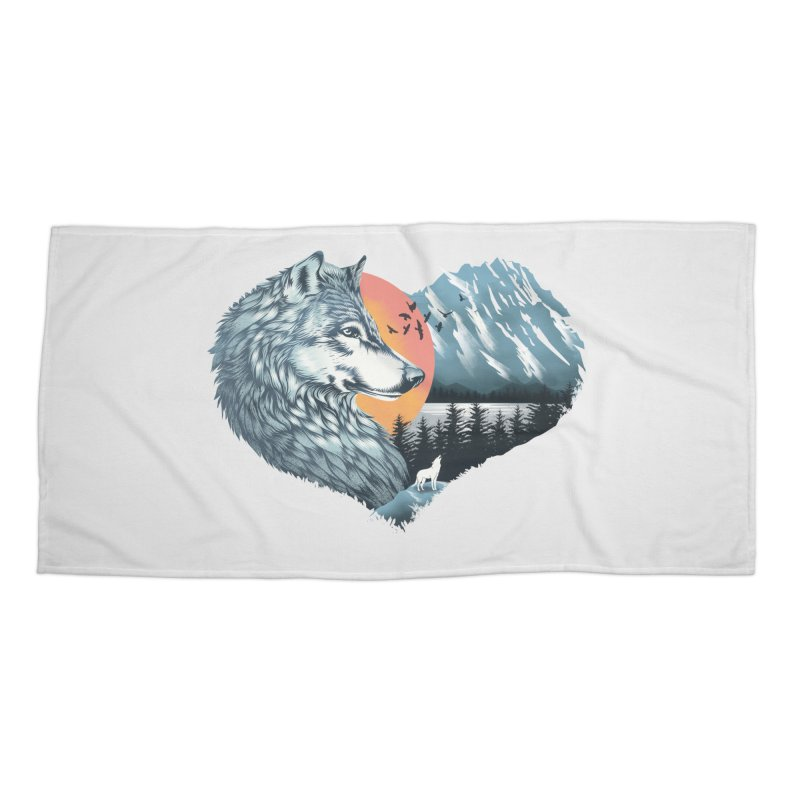 As the wild heart howls Accessories Beach Towel by dandingeroz's Artist Shop