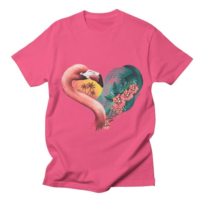 Tropical Love Women's Regular Unisex T-Shirt by dandingeroz's Artist Shop