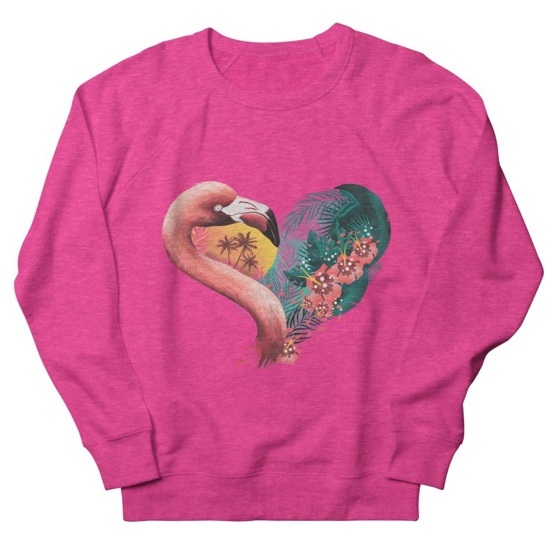 Tropical Love Women's French Terry Sweatshirt by dandingeroz's Artist Shop