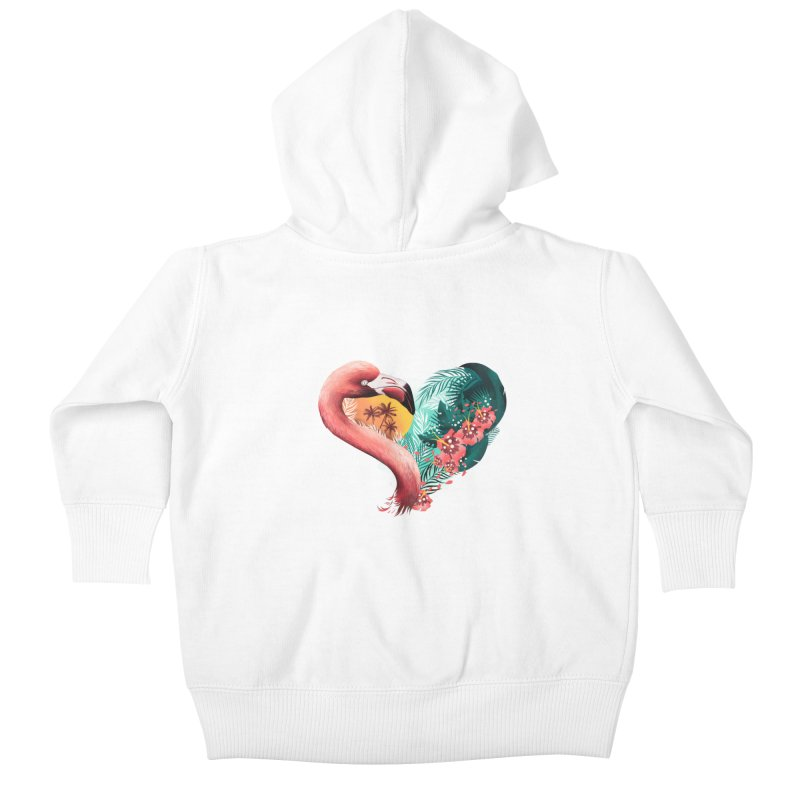 Tropical Love Kids Baby Zip-Up Hoody by dandingeroz's Artist Shop