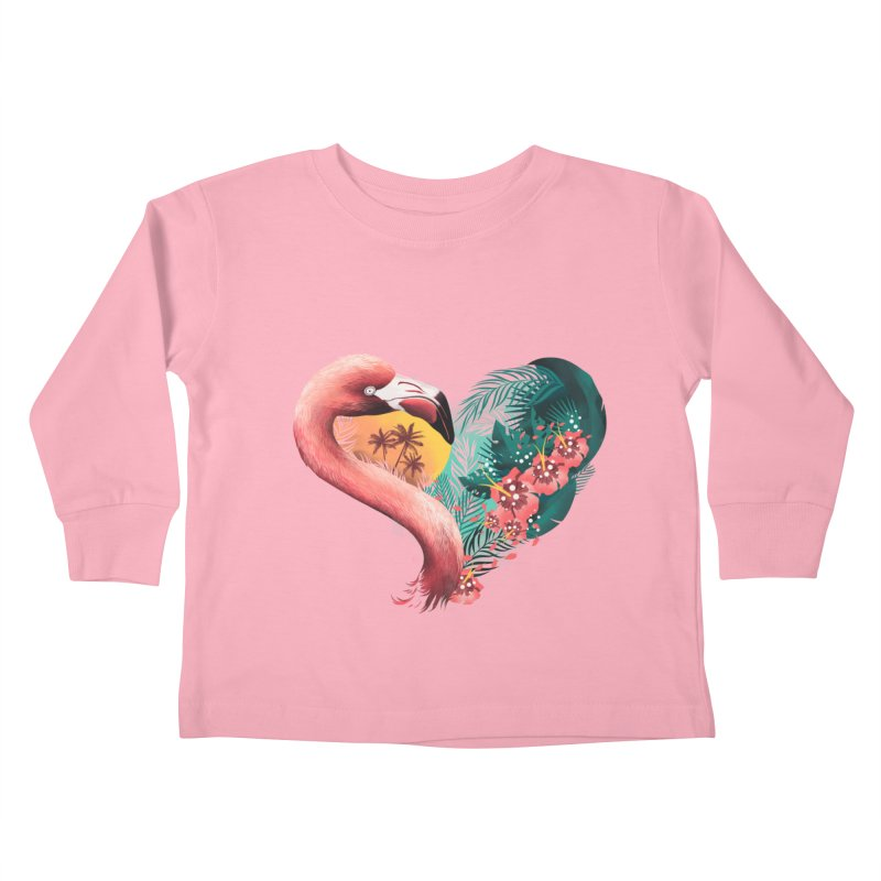 Tropical Love Kids Toddler Longsleeve T-Shirt by dandingeroz's Artist Shop