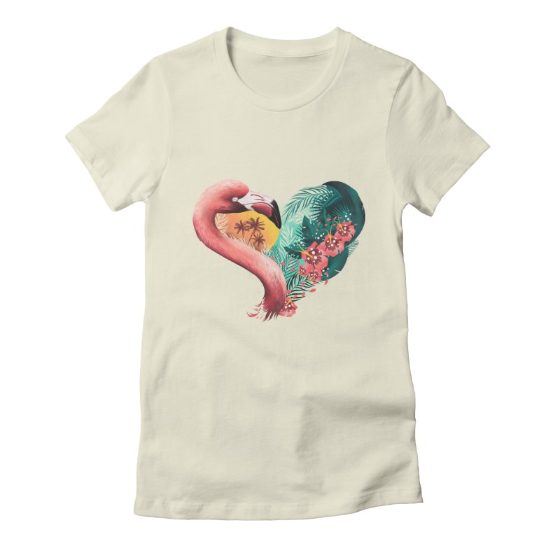 Tropical Love Women's Fitted T-Shirt by dandingeroz's Artist Shop