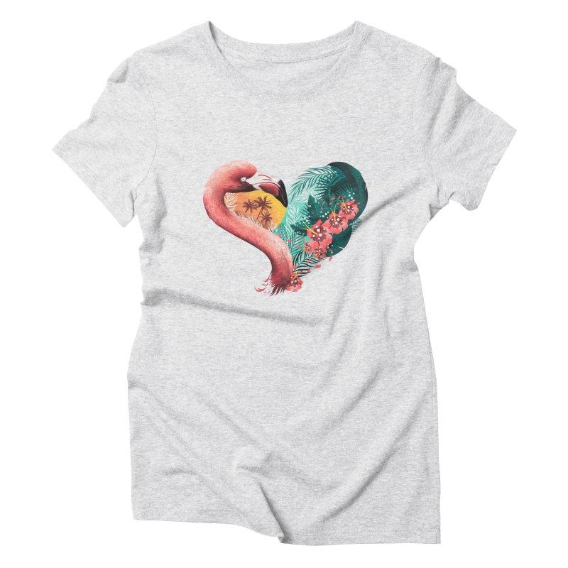 Tropical Love Women's Triblend T-Shirt by dandingeroz's Artist Shop
