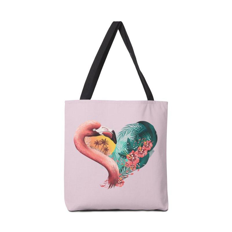 Tropical Love Accessories Bag by dandingeroz's Artist Shop