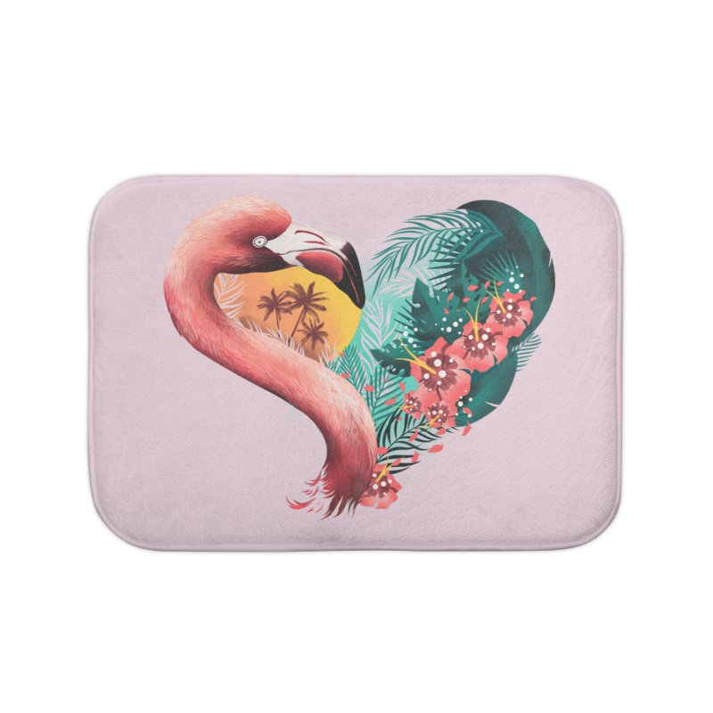 Tropical Love Home Bath Mat by dandingeroz's Artist Shop