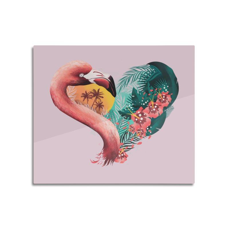 Tropical Love Home Mounted Aluminum Print by dandingeroz's Artist Shop