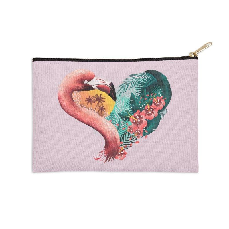 Tropical Love Accessories Zip Pouch by dandingeroz's Artist Shop