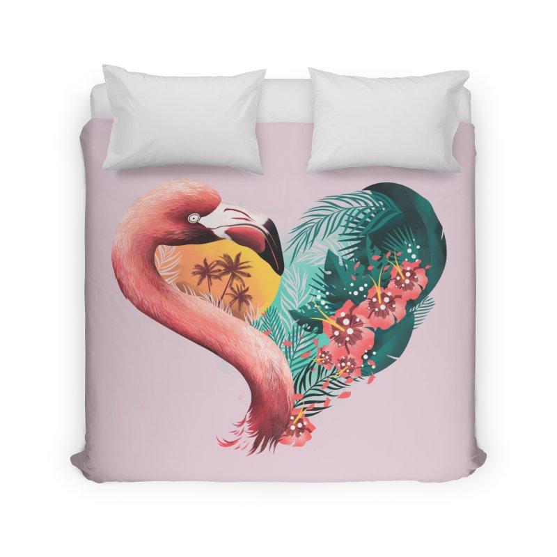 Tropical Love Home Duvet by dandingeroz's Artist Shop