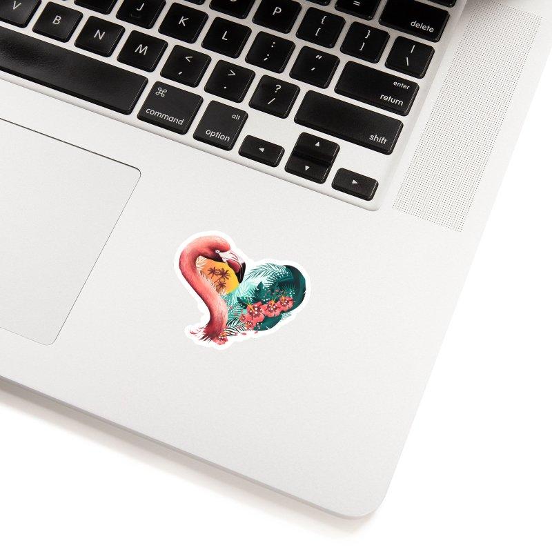 Tropical Love Accessories Sticker by dandingeroz's Artist Shop