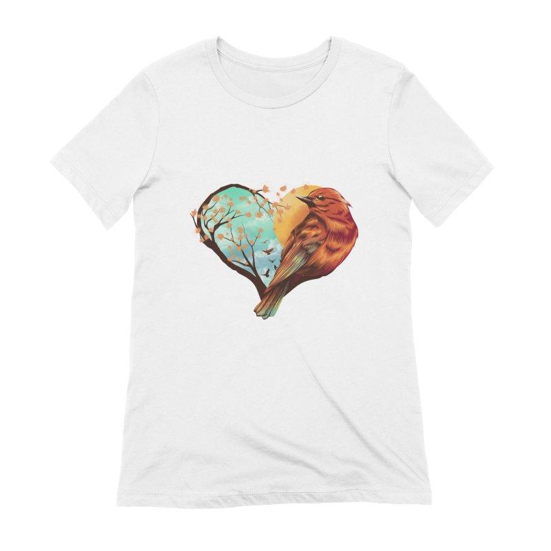 Love Bird Women's T-Shirt by dandingeroz's Artist Shop