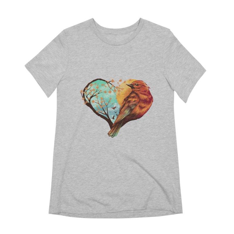 Love Bird Women's Extra Soft T-Shirt by dandingeroz's Artist Shop