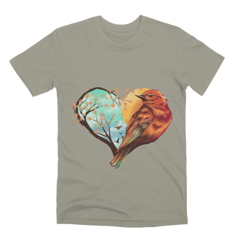 Love Bird Men's Premium T-Shirt by dandingeroz's Artist Shop