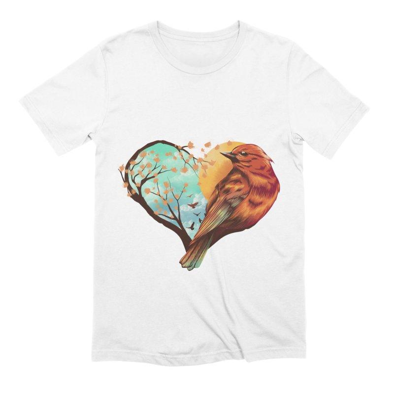 Love Bird Men's Extra Soft T-Shirt by dandingeroz's Artist Shop