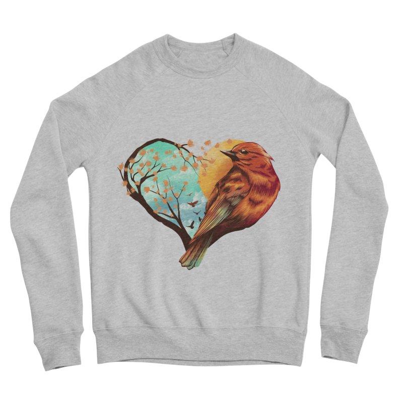 Love Bird Men's Sponge Fleece Sweatshirt by dandingeroz's Artist Shop