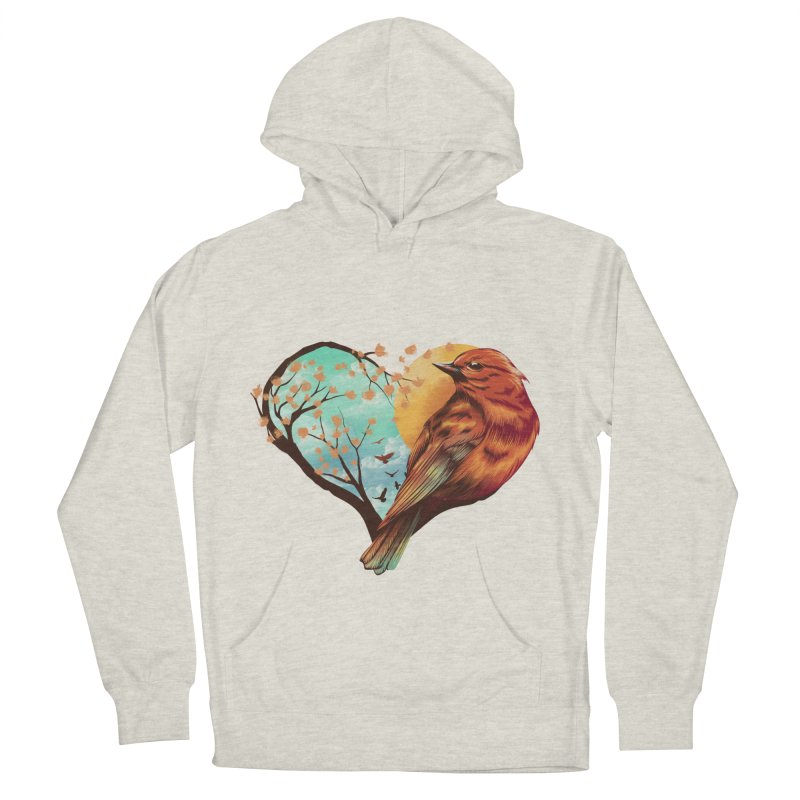 Love Bird Women's Pullover Hoody by dandingeroz's Artist Shop
