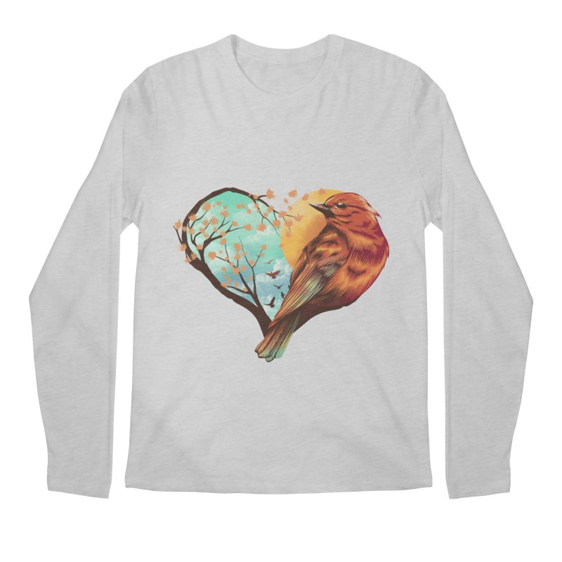 Love Bird Men's Longsleeve T-Shirt by dandingeroz's Artist Shop