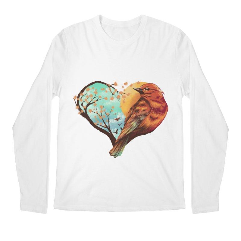Love Bird Men's Regular Longsleeve T-Shirt by dandingeroz's Artist Shop
