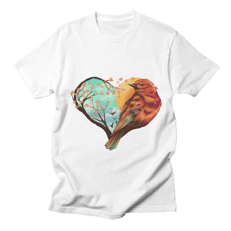 Love Bird Women's Regular Unisex T-Shirt by dandingeroz's Artist Shop