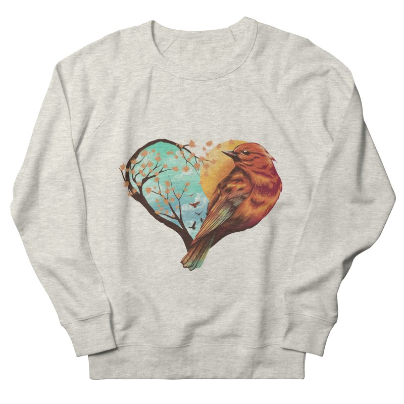 Love Bird Women's French Terry Sweatshirt by dandingeroz's Artist Shop