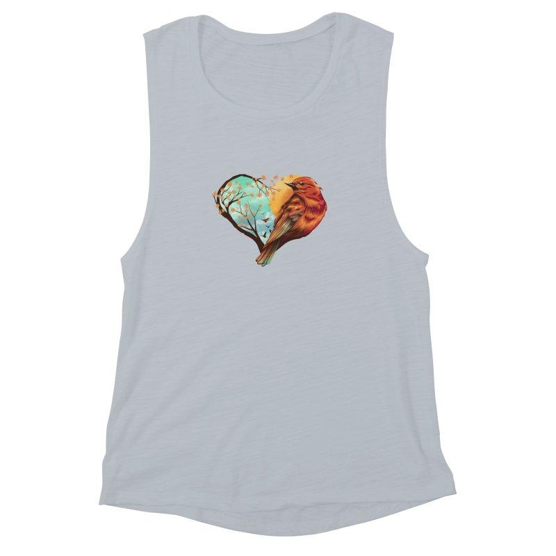 Love Bird Women's Muscle Tank by dandingeroz's Artist Shop